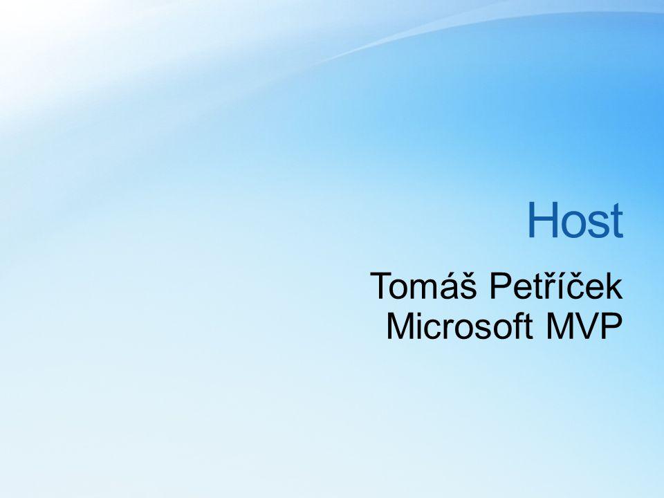 Host Tomáš Petříček Microsoft MVP