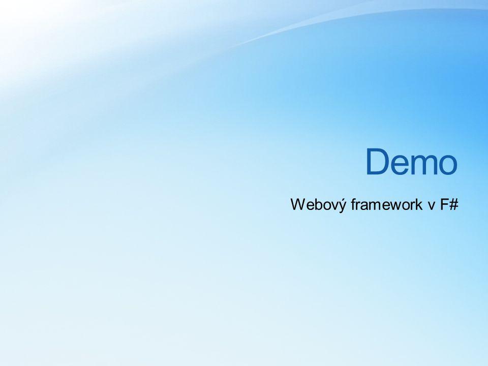 Demo Webový framework v F#