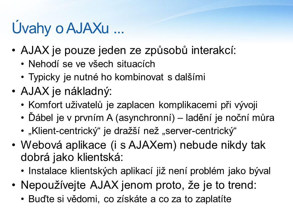 Úvahy o AJAXu...