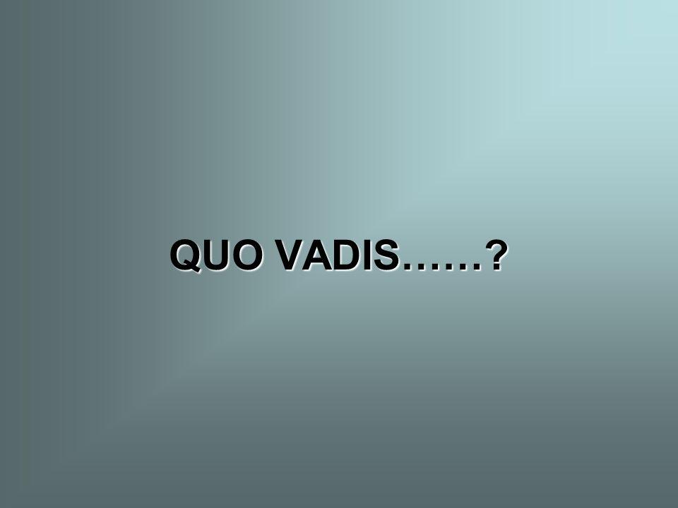 QUO VADIS……?