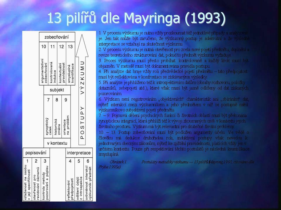 13 pilířů dle Mayringa (1993)