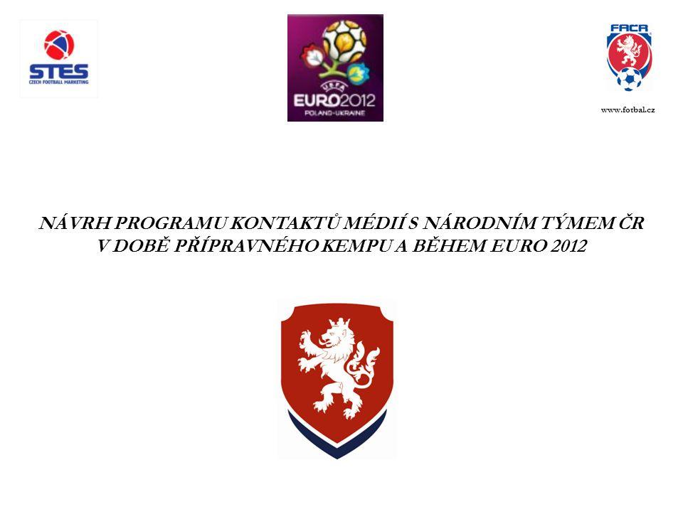 NÁVRH PROGRAMU KONTAKTŮ MÉDIÍ S NÁRODNÍM TÝMEM ČR V DOBĚ PŘÍPRAVNÉHO KEMPU A BĚHEM EURO 2012 www.fotbal.cz