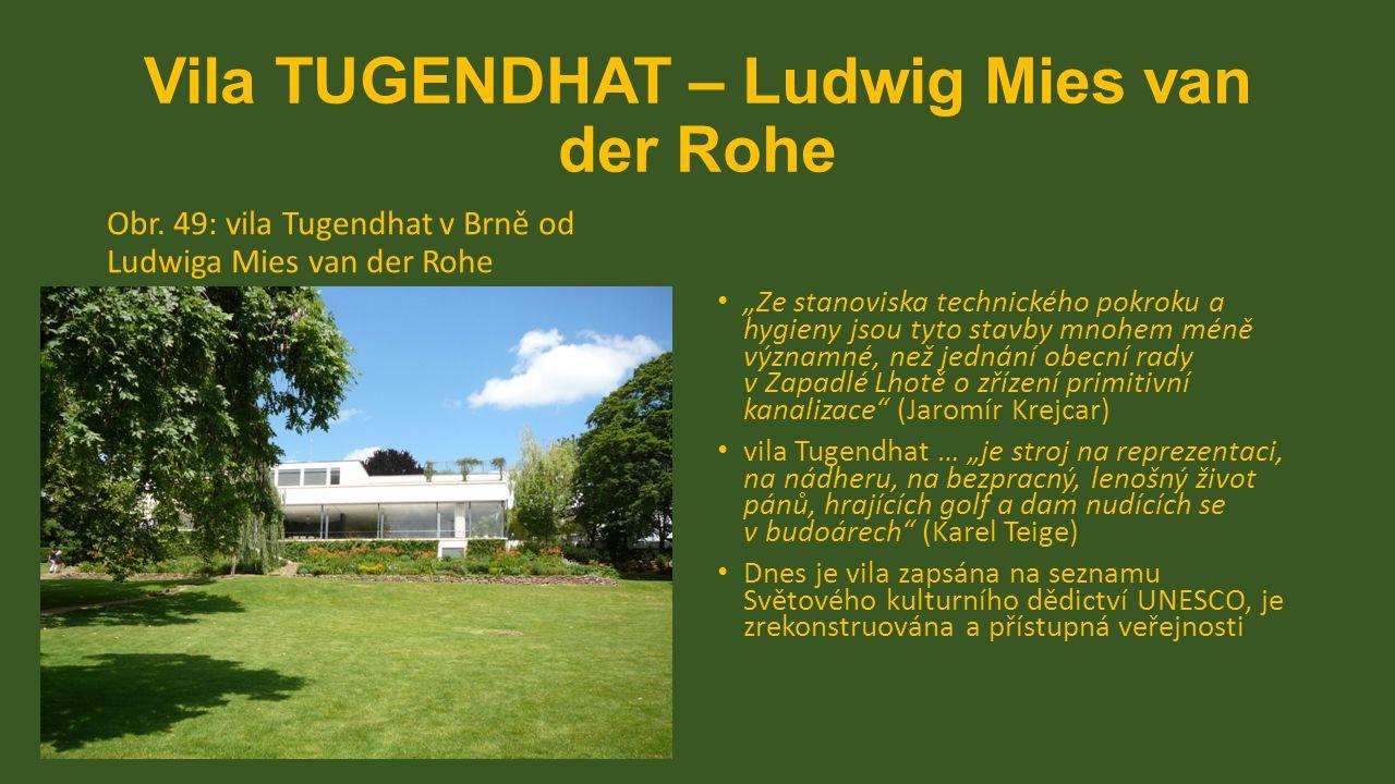 Mülleorva vila – Adolf LOOS Obr.