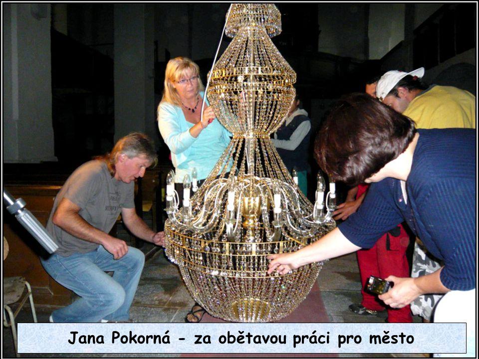 Jana Pokorná - za obětavou práci pro město