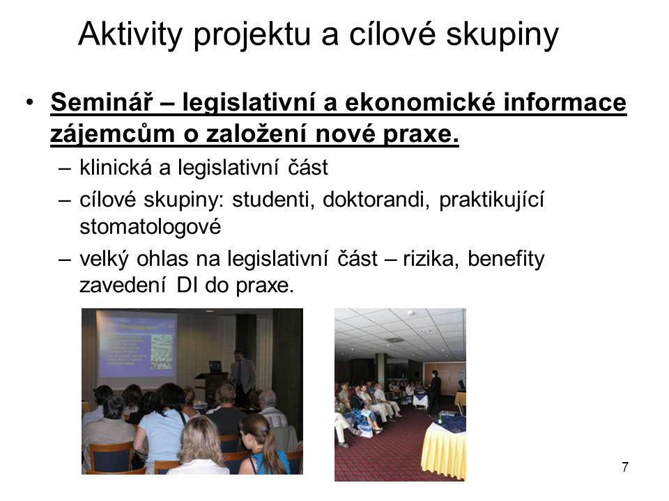 7 Seminář – legislativní a ekonomické informace zájemcům o založení nové praxe.