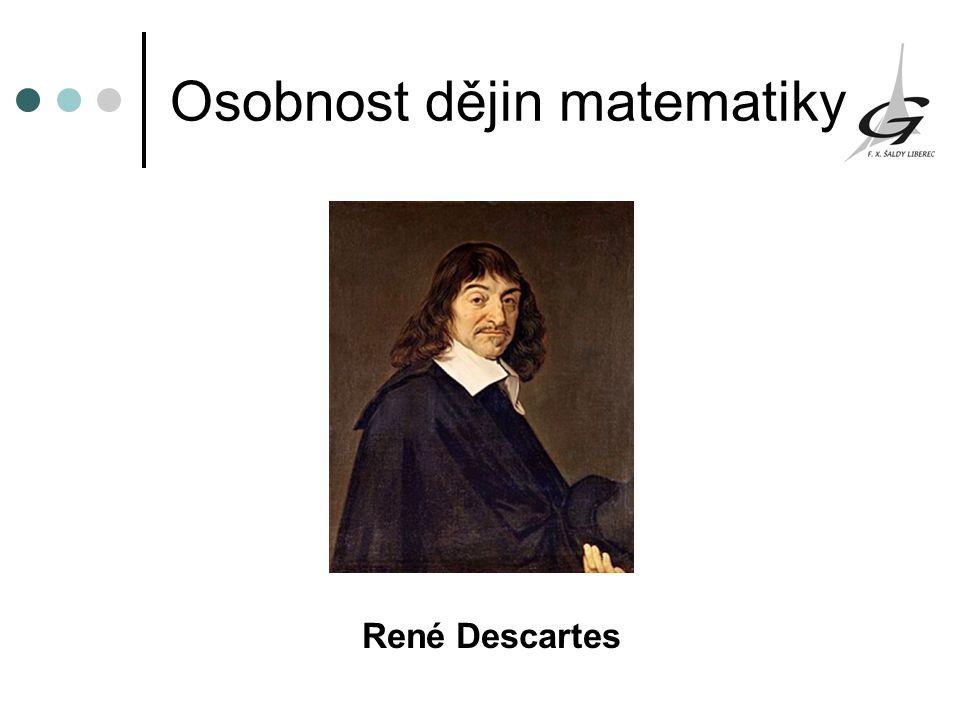 Osobnost dějin matematiky René Descartes