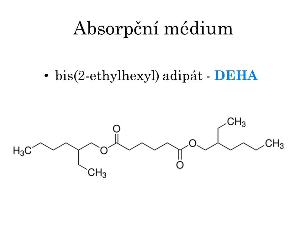 Absorpční médium bis(2-ethylhexyl) adipát - DEHA