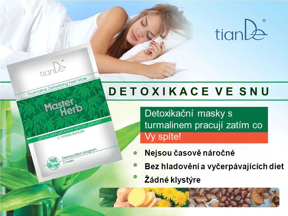 D E T O X I K A C E V E S N U Detoxikační masky s turmalinem pracují zatím co Vy spíte.