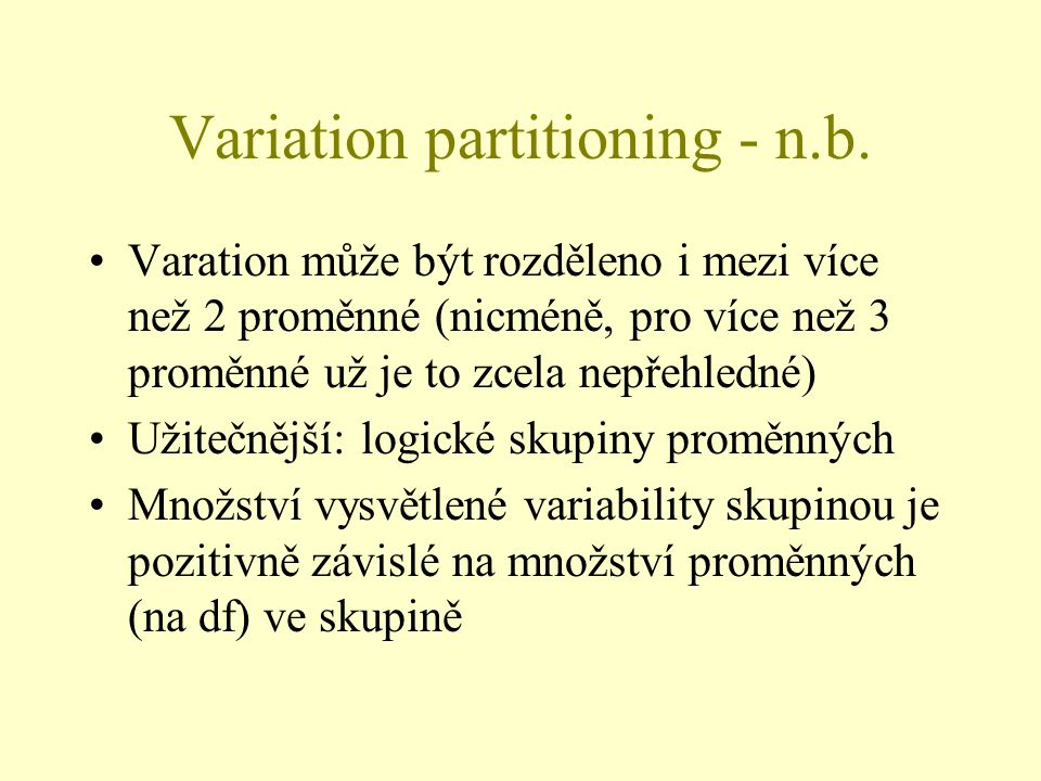 Variation partitioning - n.b.