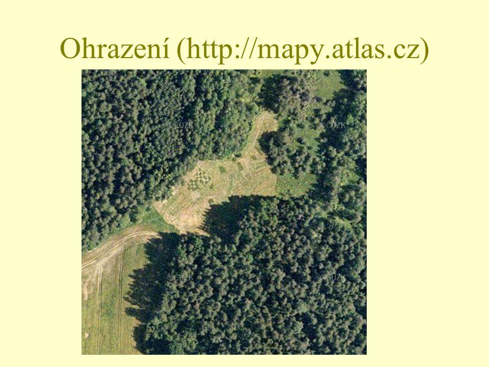 Ohrazení (http://mapy.atlas.cz)
