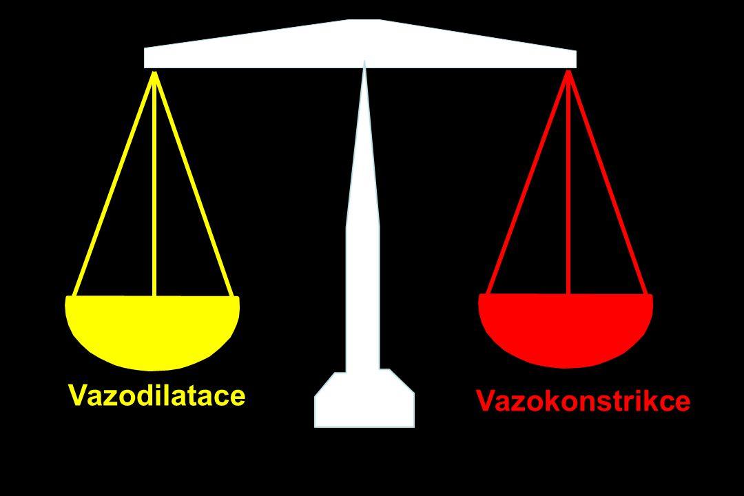Vazodilatace Vazokonstrikce