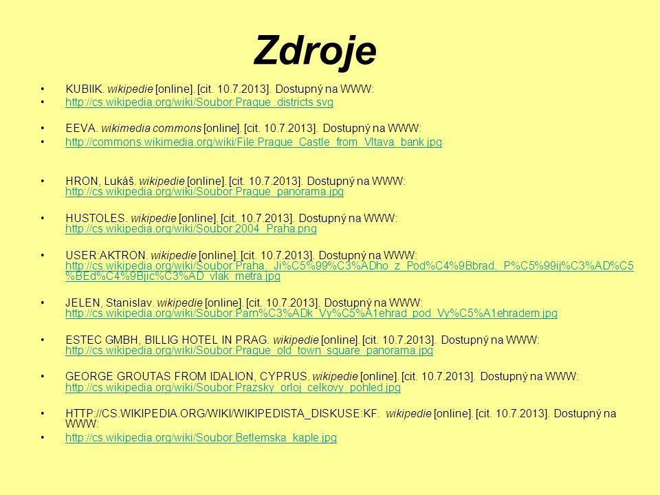 Zdroje KUBIIK. wikipedie [online]. [cit. 10.7.2013].
