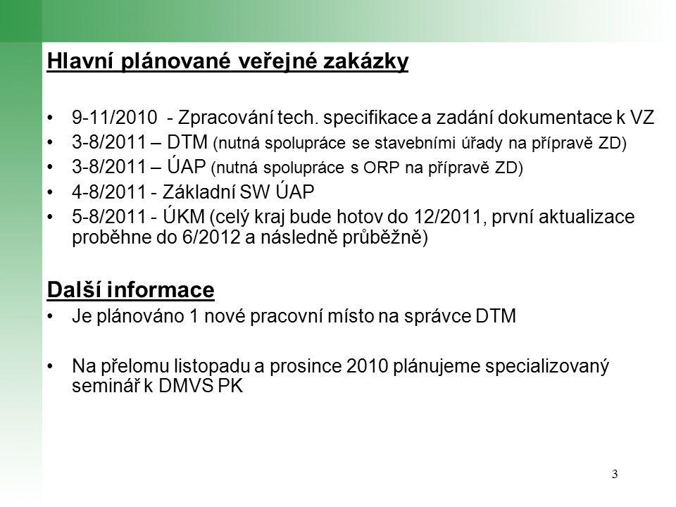 3 Hlavní plánované veřejné zakázky 9-11/2010 - Zpracování tech.