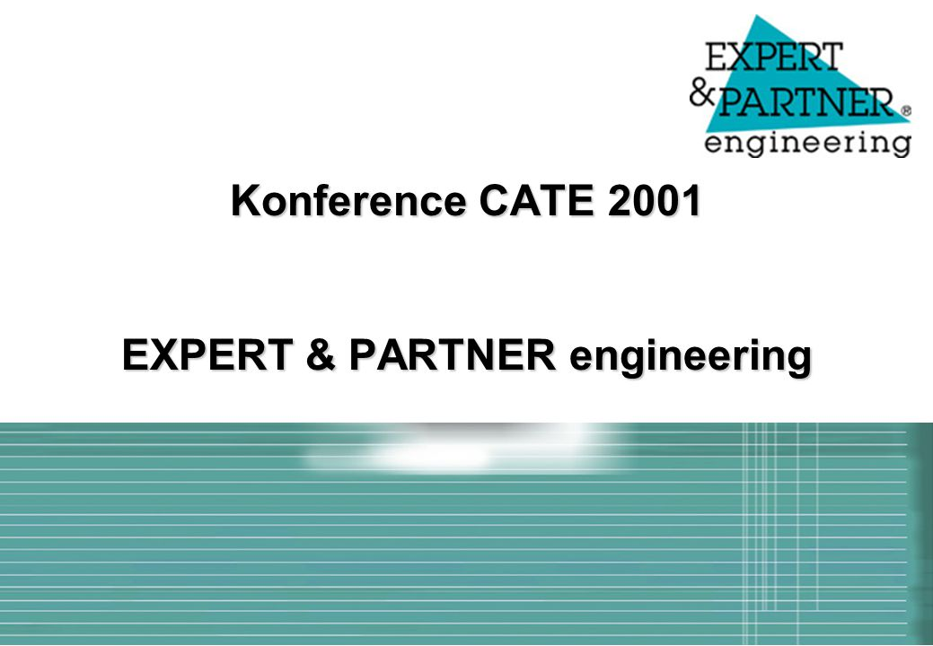 Konference CATE 2001 EXPERT & PARTNER engineering