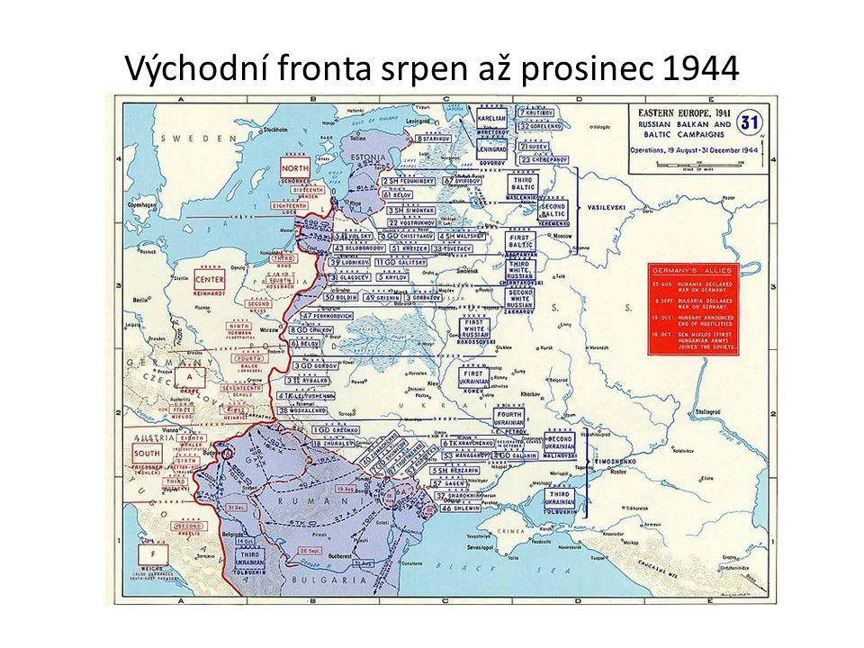 Východní fronta srpen až prosinec 1944