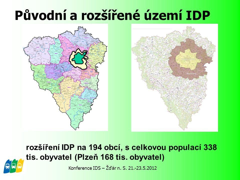 Původní a rozšířené území IDP rozšíření IDP na 194 obcí, s celkovou populací 338 tis. obyvatel (Plzeň 168 tis. obyvatel) Konference IDS – Žďár n. S. 2