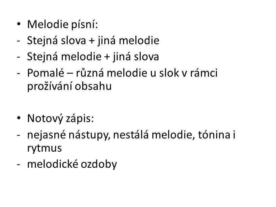 Klasifikace romské hudby (písně) Podle subetnické skupiny Podle publika: -Pro Romy -Pro neromy: interpretace majoritní hudby s vlastní invencí, romské písně v úpravách (kavárenské a cimbálové muziky) Podle stáří: -phurikane giľa (= staré písně): pomalé -neve giľa (= nové písně): taneční, rompop