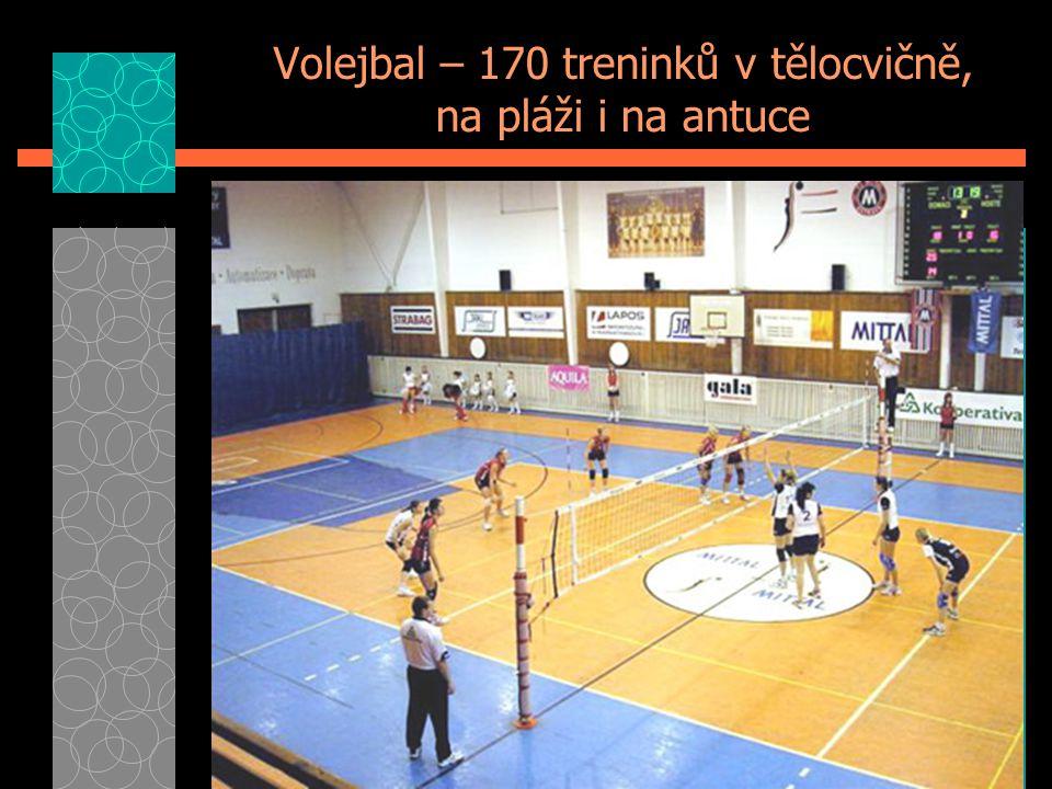 Volejbal – 170 treninků v tělocvičně, na pláži i na antuce