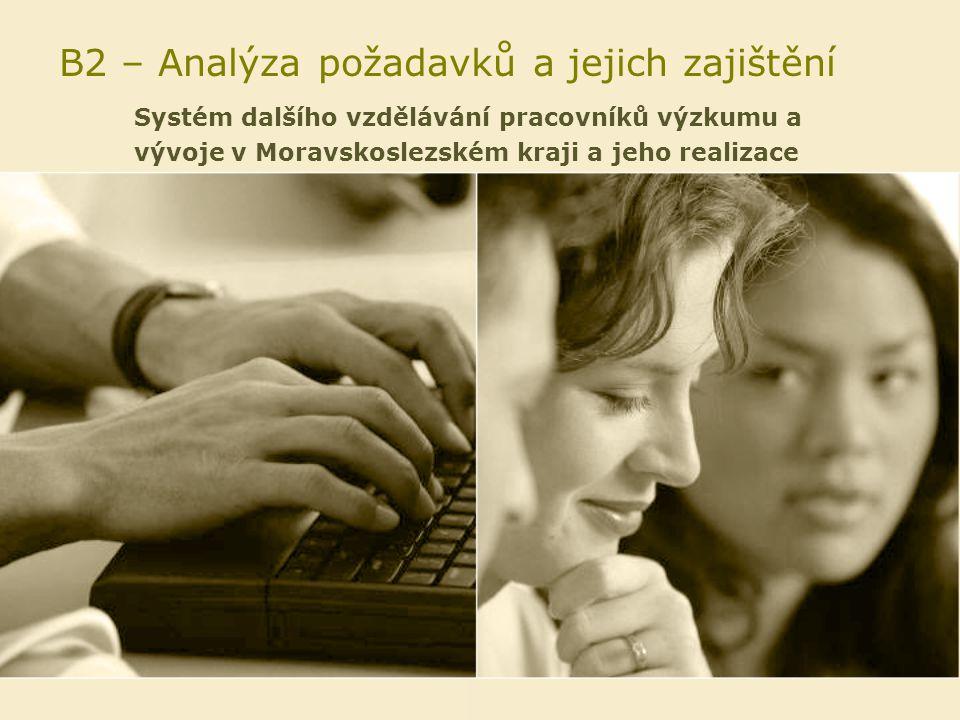 B2 – Analýza požadavků a jejich zajištění Systém dalšího vzdělávání pracovníků výzkumu a vývoje v Moravskoslezském kraji a jeho realizace