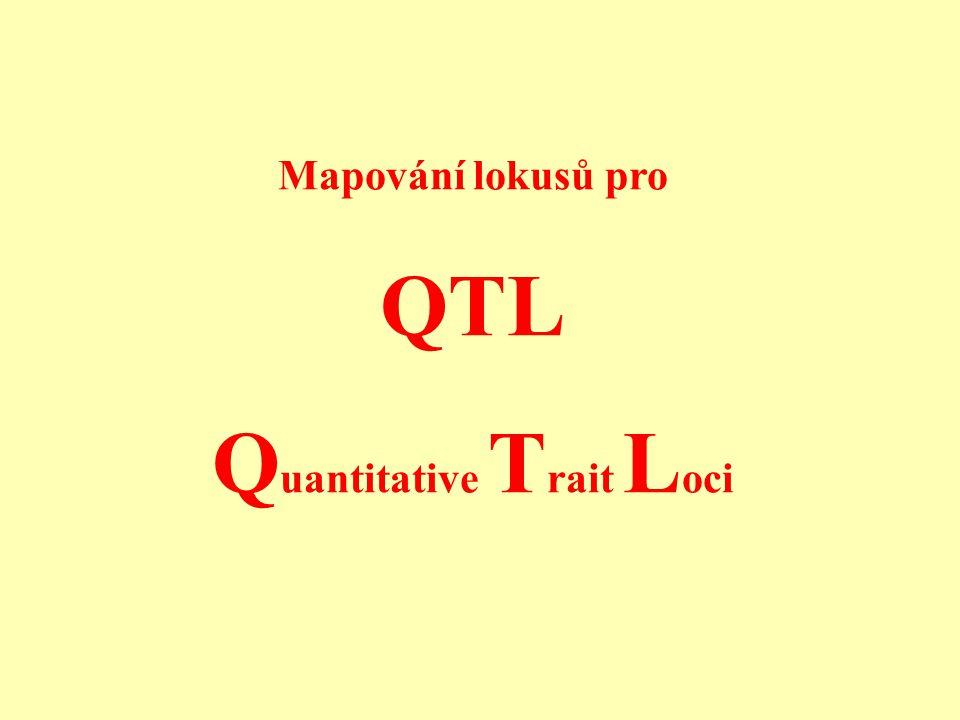 Faktory ovlivňující schopnost asociačního testu detekovat QTL testováním efektu jednotlivých markerů r 2 (tj.