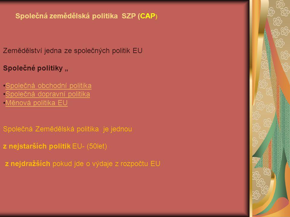 Nástroje SZP (před reformami) 1.Systém variabilních překážek 2.Grantované výkupní Ceny