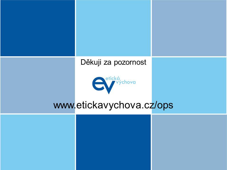 www.etickavychova.cz/ops Děkuji za pozornost