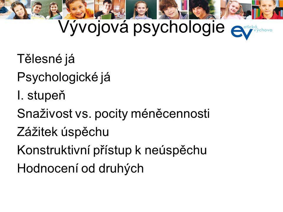 Vývojová psychologie - adolescence sebeposuzování Identita Náhradní identita Rozptýlená identita Status moratoria Pravá identita