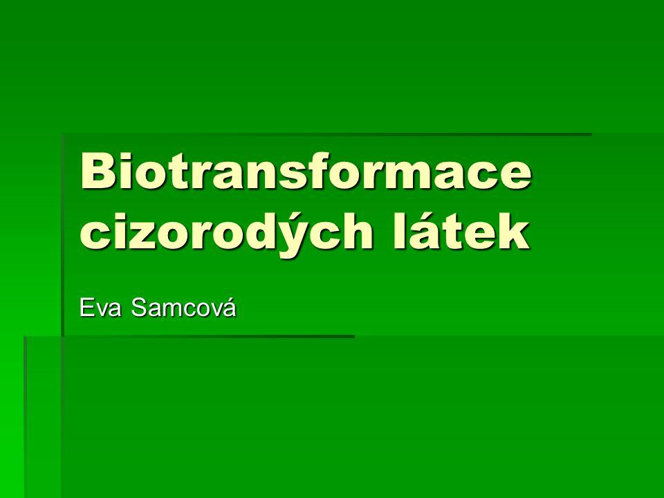 Biotransformace cizorodých látek Eva Samcová