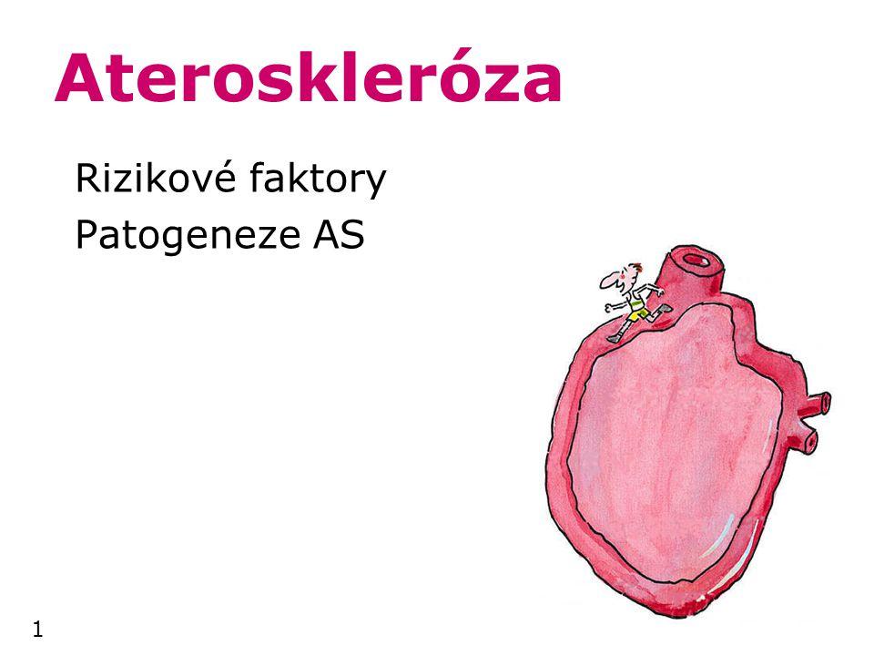 1 Ateroskleróza Rizikové faktory Patogeneze AS