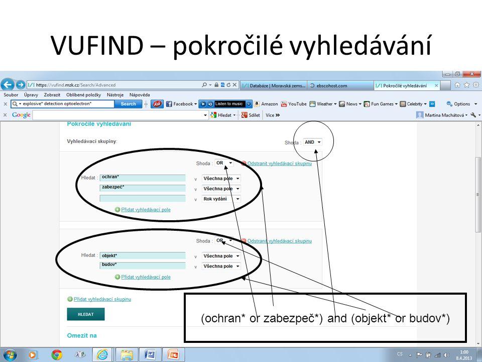 VUFIND – tematické vyhledávání 1