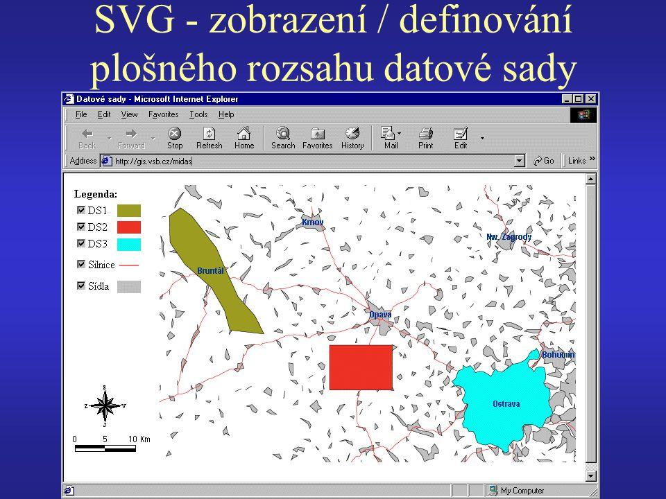 SVG - zobrazení / definování plošného rozsahu datové sady