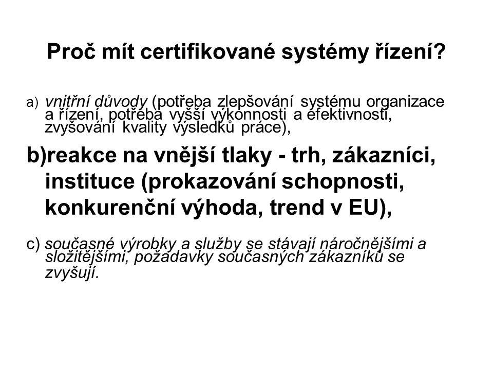 Termíny a definice dle ISO 9000.