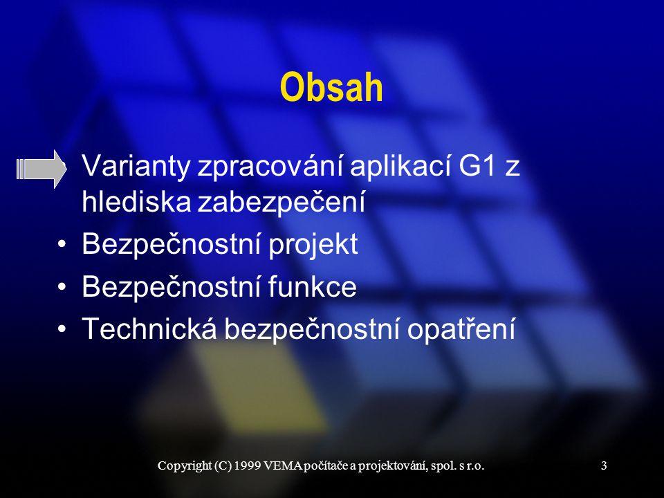 Copyright (C) 1999 VEMA počítače a projektování, spol. s r.o.24 Šifrované zprávy