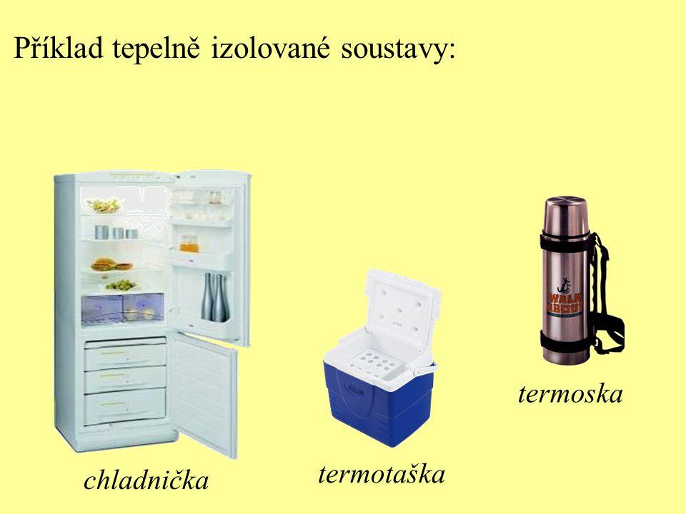 Příklad tepelně izolované soustavy: chladnička termotaška termoska