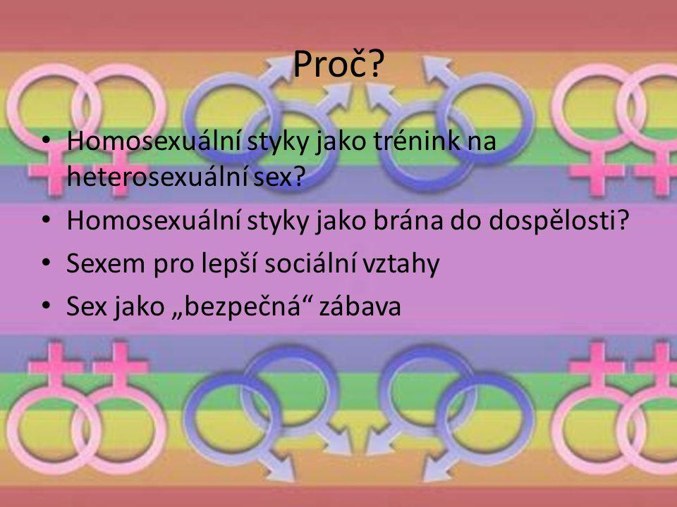 """Proč? Homosexuální styky jako trénink na heterosexuální sex? Homosexuální styky jako brána do dospělosti? Sexem pro lepší sociální vztahy Sex jako """"be"""