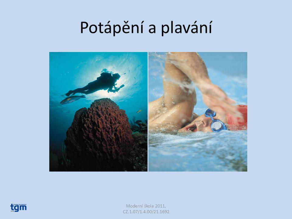 Potápění a plavání Moderní škola 2011, CZ.1.07/1.4.00/21.1692