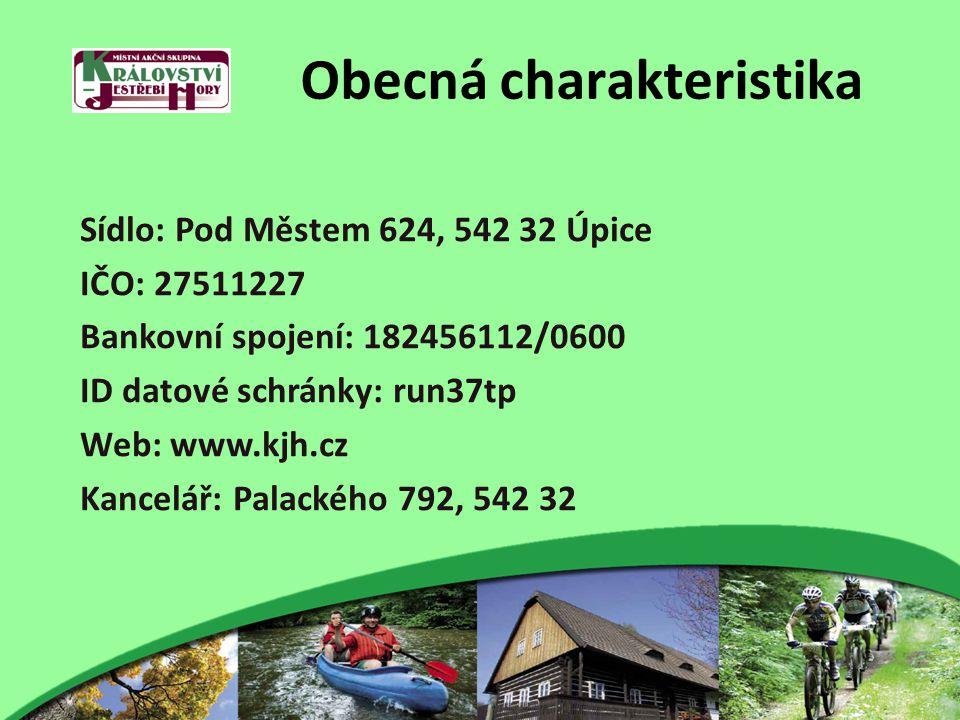 Obecná charakteristika Sídlo: Pod Městem 624, 542 32 Úpice IČO: 27511227 Bankovní spojení: 182456112/0600 ID datové schránky: run37tp Web: www.kjh.cz