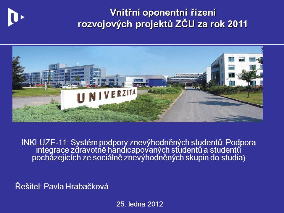 CÍLE PROJEKTU Informační a poradenské centrum ZČU poskytuje komplexní služby v oblasti studijního, psychologického, právního, sociálního a kariérového poradenství pro všechny studenty Západočeské univerzity v Plzni.