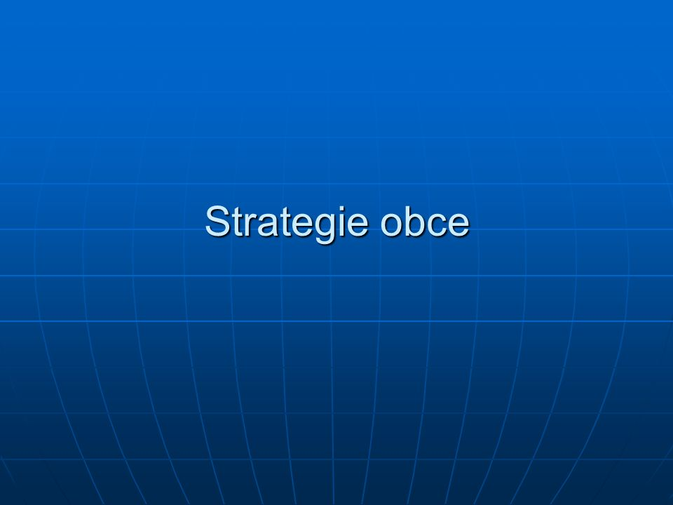 Strategie obce