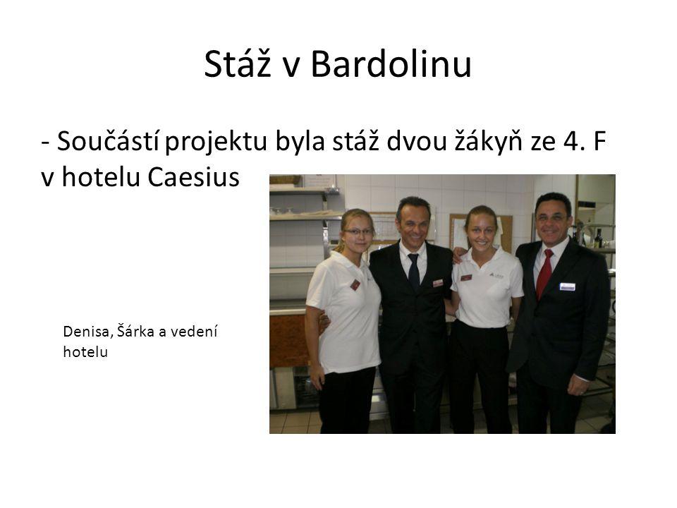 Stáž v Bardolinu - Součástí projektu byla stáž dvou žákyň ze 4.