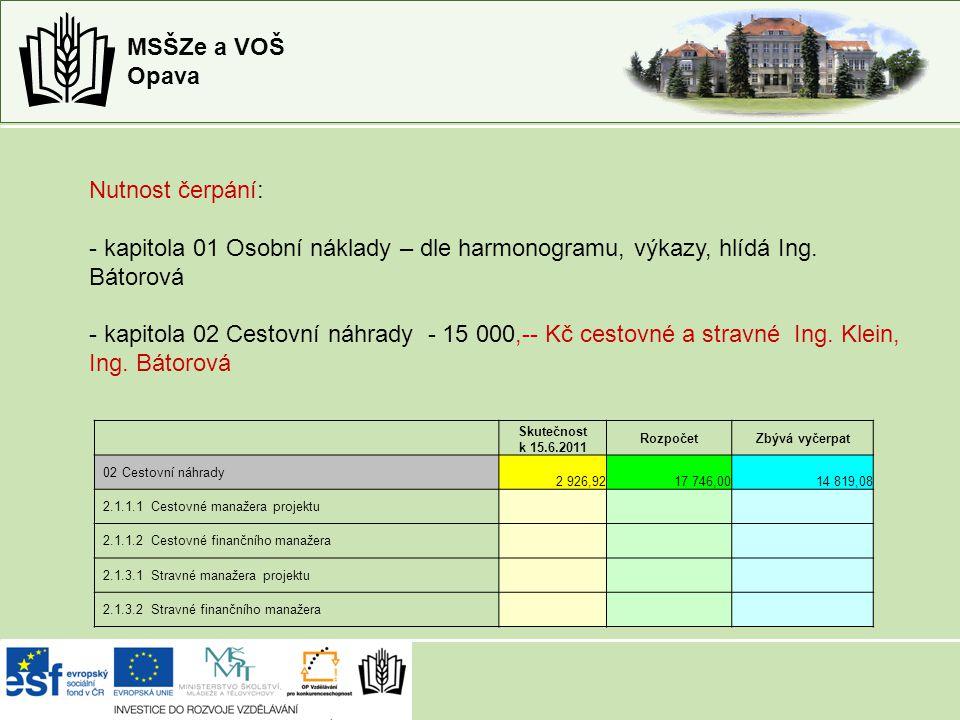 """MSŠZe a VOŠ Opava Publicita projektu 10.5. 2011 Region Opavsko """"Mrazivá soutěž v Arboretu 17."""