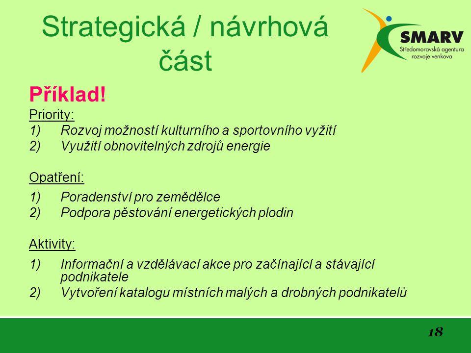 18 Strategická / návrhová část Příklad.