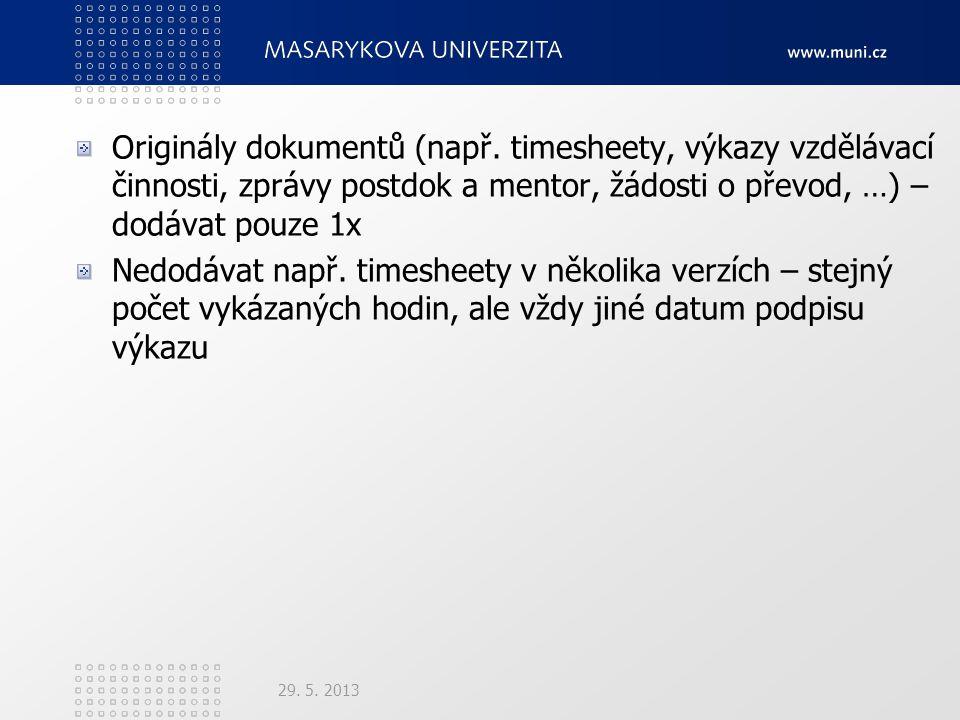 Originály dokumentů (např.