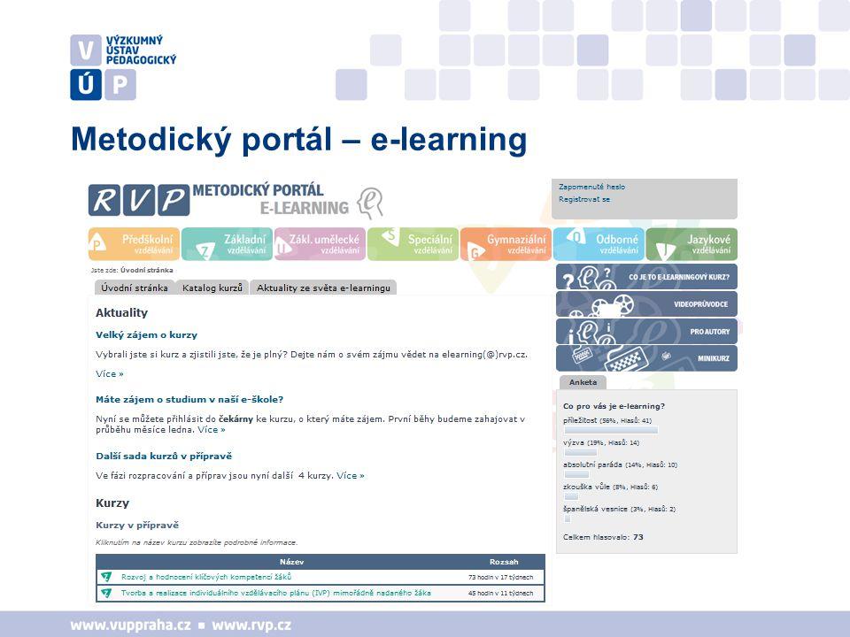 Metodický portál – e-learning
