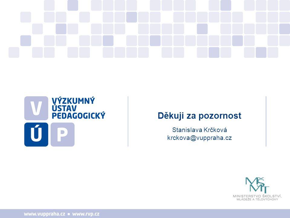 Stanislava Krčková krckova@vuppraha.cz Děkuji za pozornost