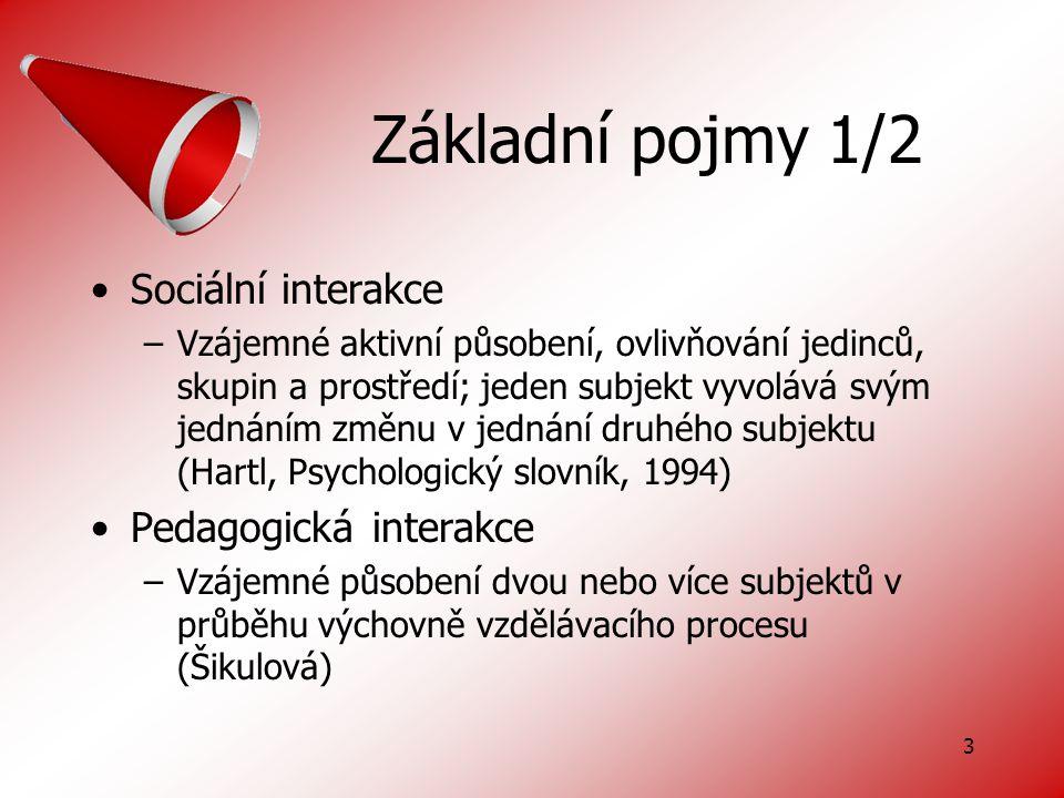 4 Základní pojmy 2/2 Sociální komunikace –Sdělování, tj.