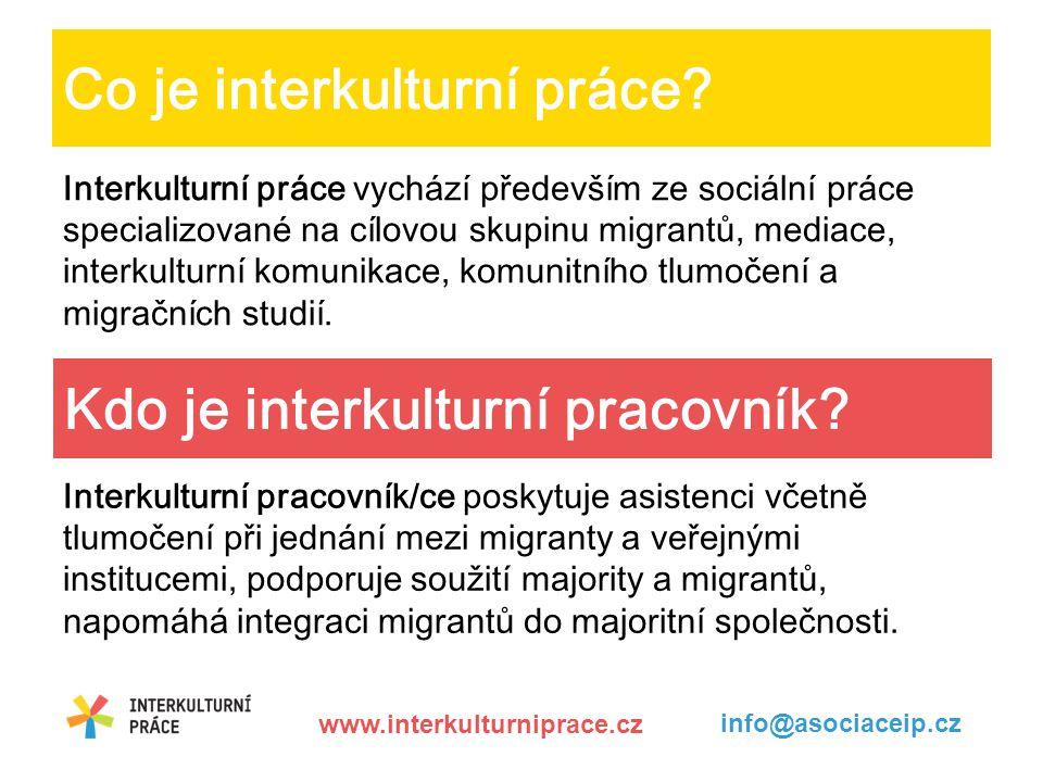 Co je interkulturní práce.