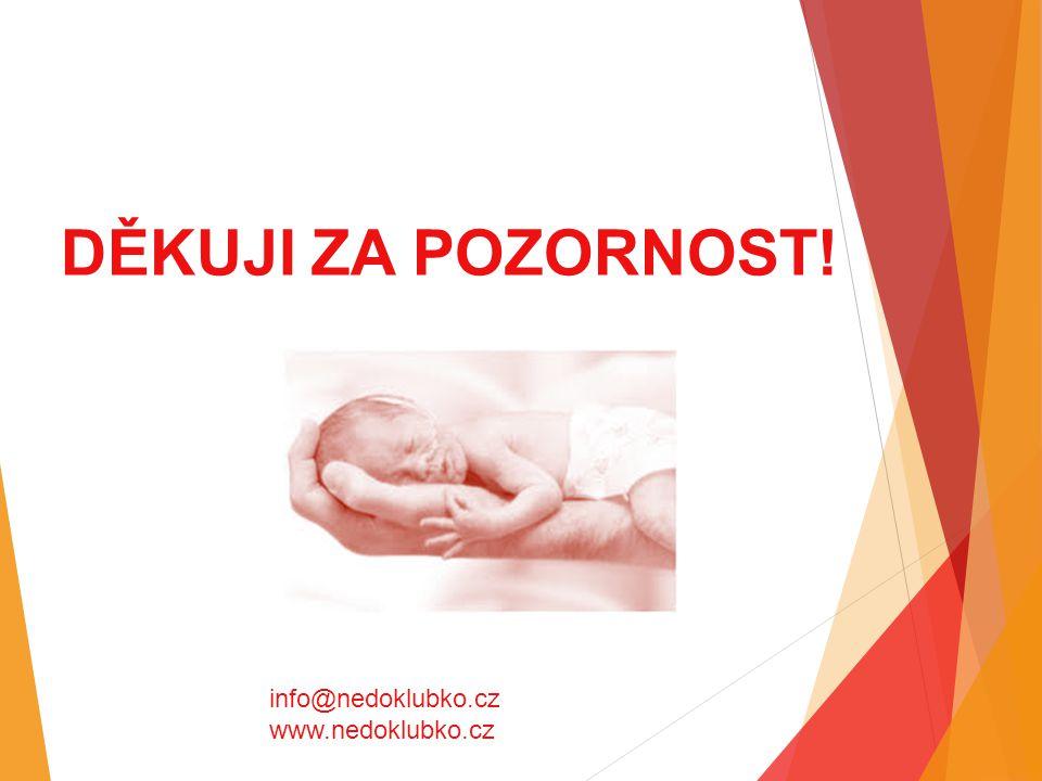 DĚKUJI ZA POZORNOST! info@nedoklubko.cz www.nedoklubko.cz