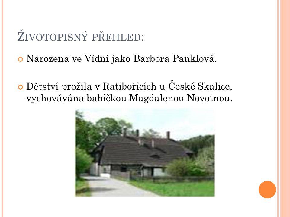 Ž IVOTOPISNÝ PŘEHLED : Narozena ve Vídni jako Barbora Panklová.