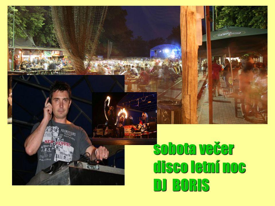 sobota večer disco letní noc DJ BORIS